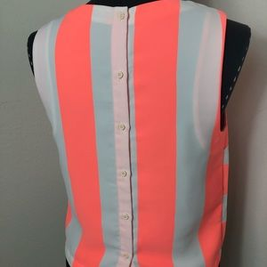 Topshop Tops - Topshop Sleeveless Back Button Blouse